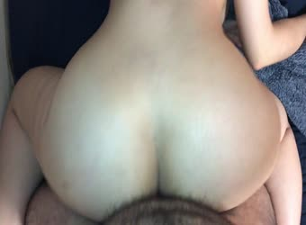 Watch her pawg ass bounce on my cock
