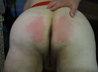 Naughty BBW Slut Bright Red Ass