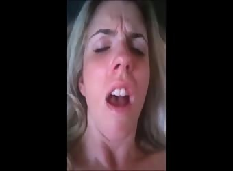 Horny Blonde MILF Fucks Herself With a Bottle