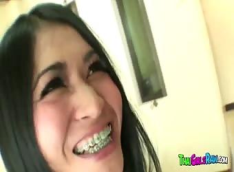 Thai teen swallows cum