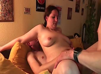 Real Amateure Wife First gangbang with sandwich