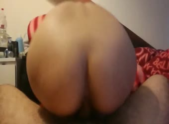 My Japanese slut riding me bareback