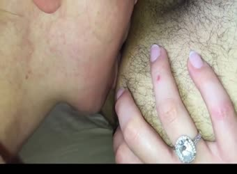 Nympho wife gives epic rimjob and blowjob