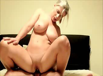 Big tits blonde fucking