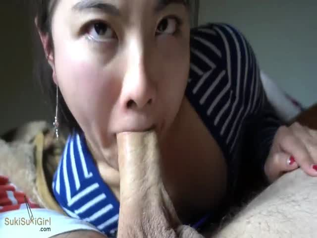 Girl giving herself a blowjob 2