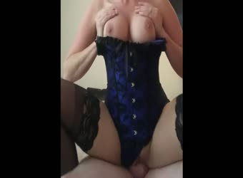 Grace fucked in black stockings and corset