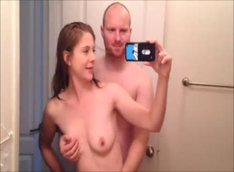 Couple fucking to a hot creampie