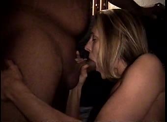 Wife sucks black cock
