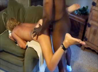 Watching his wife become a black cock slut