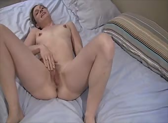 wife with big bush playing with herself
