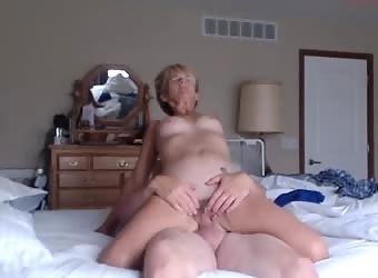 Parents having sex in their bedroom