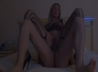 Hot blonde mounting cock in reverse cowgirl