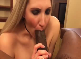 Blonde nympho wife is crazy for black dick
