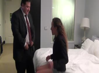 Boss fucks secretary in hotel after work