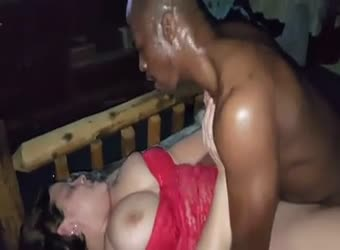 BBW wife taking young black guys semen