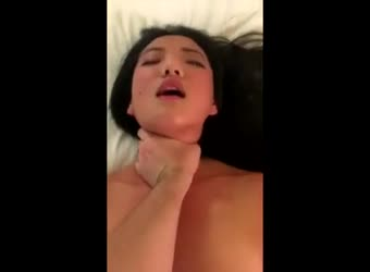 Beautiful asian sut fucks and swallows