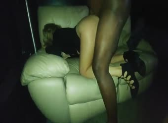Hotwife is plowed by BBC on the sofa as hubby watches