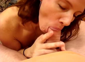 Hot milf gags on cum in mouth