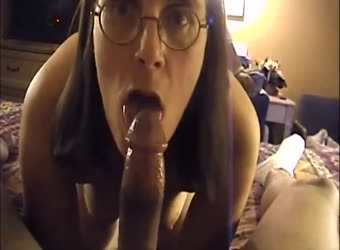 Nerdy middle aged wife experience a black man