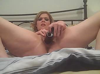 Slut Wife Fucking A Huge Black Dildo