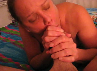 Mature MILF Joan M Sucking My Cock