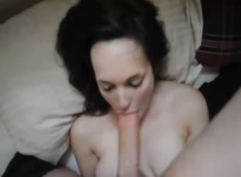 She looks shy but can deepthroat big cock easily