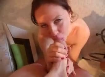 Mom sucks a monster cock that barely fits