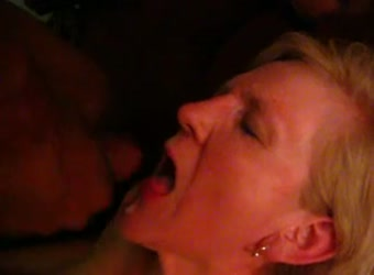 Mature wife never swallowed cum until her first BBC
