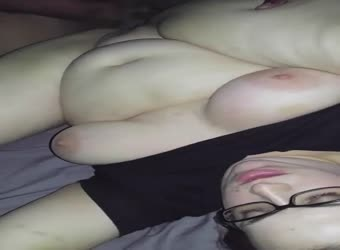 Chubby wife pounded by BBC for filming hubby