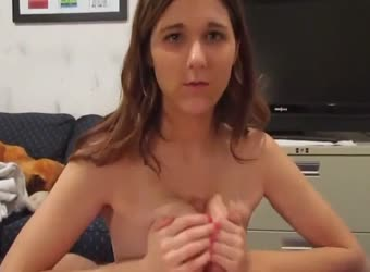 Perfect naturals titty fuck