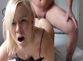 Sexy blonde gets both holes fucked