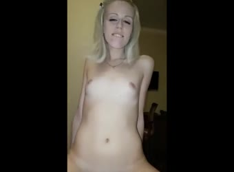 Tiny blonde loves to fuck