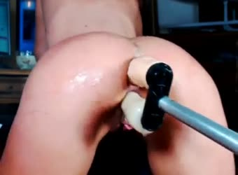 Sex machine DP and squirting