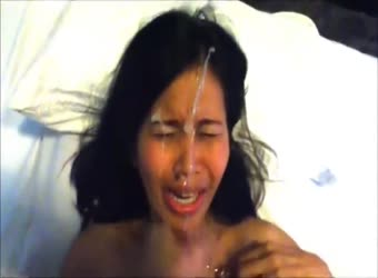 Asian Milf Gets Too Much Cum