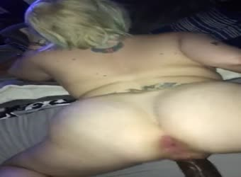 Big booty blonde with thick BBC