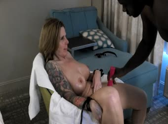Hotwife interracial foreplay and light bondage