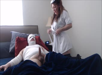 BBW milf nurse roleplay fucking disabled patient
