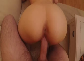 Perfect round ass doggy big dick cumshot