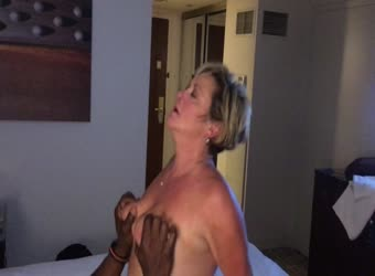 Husband watches mature wife cum on BBC