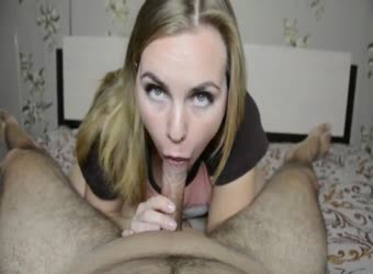 Green Eyes Looking Pov Blowjob And Facial