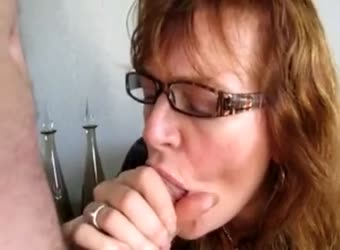 Wife drinking cum in front of husband
