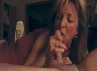 Wife giving a great blowjob