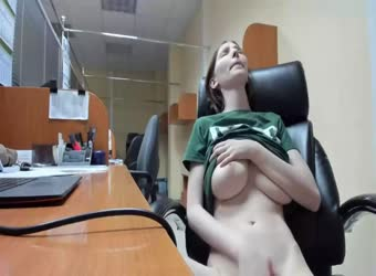 Being Naughty At The Office When Noone Is There