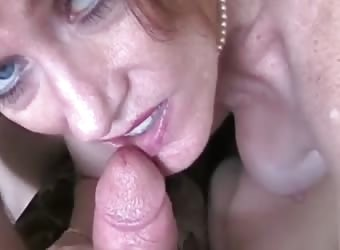 Amateur Granny Cum Swallower Slut