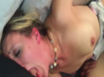 Pretty blonde wife shared between husband and black bull