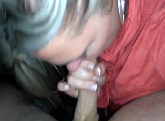 Wonderful milf cum in mouth blowjob