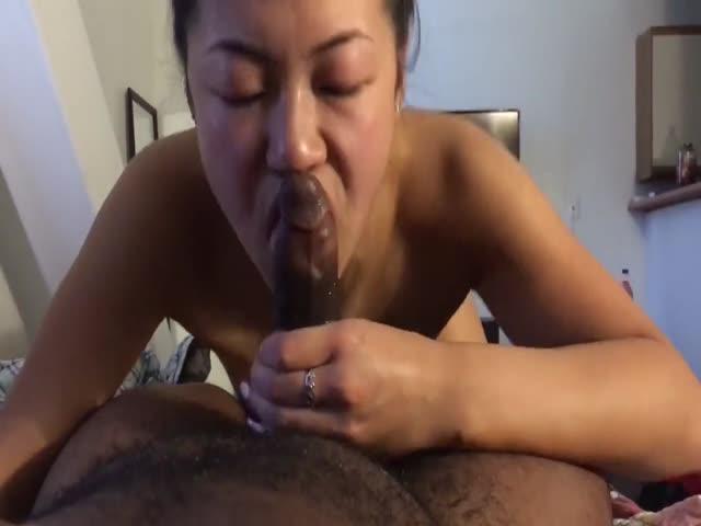 Black Amateur Dick Sucking