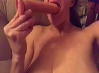 Horny dildo play