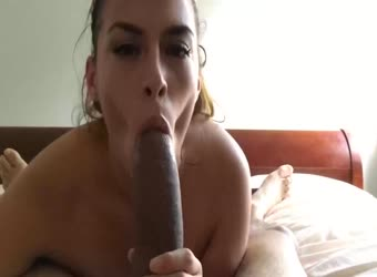 Sucking A Giant Cock