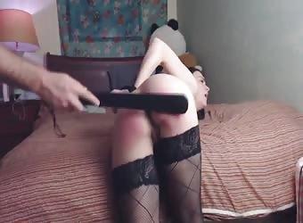 Naughty girlfriend gets punished by her boyfriend